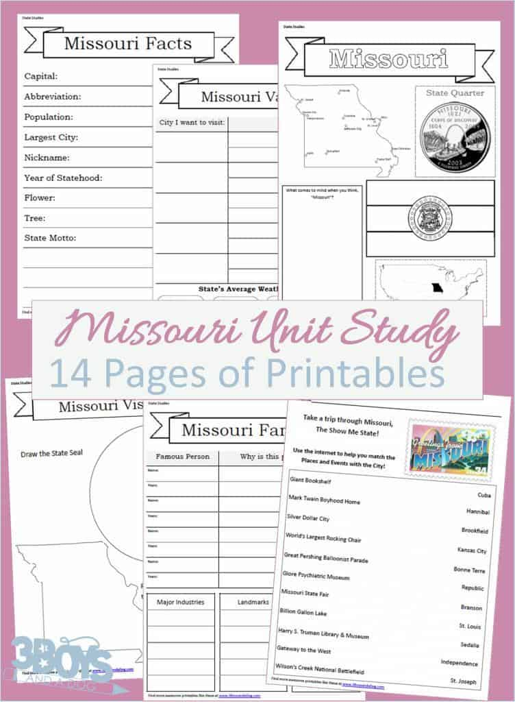 Missouri State Unit Study