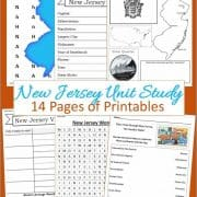 New Jersey Unit Study 14 pages of printables