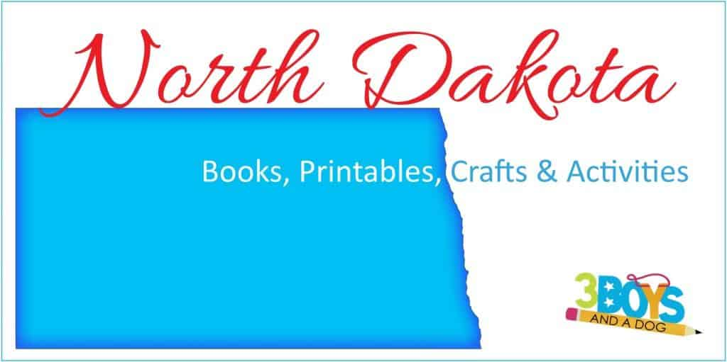 North Dakota Books Printables and More