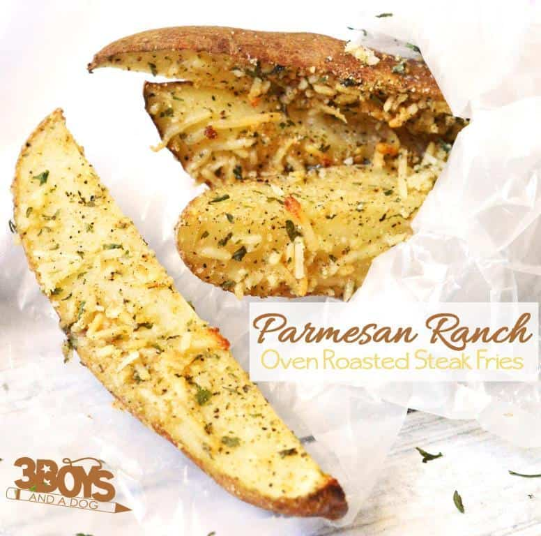 Oven Roasted Parmesan Ranch Steak Fries Recipe