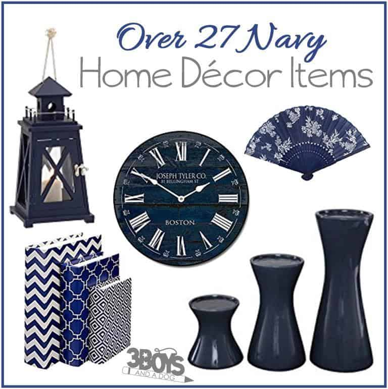27 Fun Navy Home Decor Pieces 3 Boys And A Dog