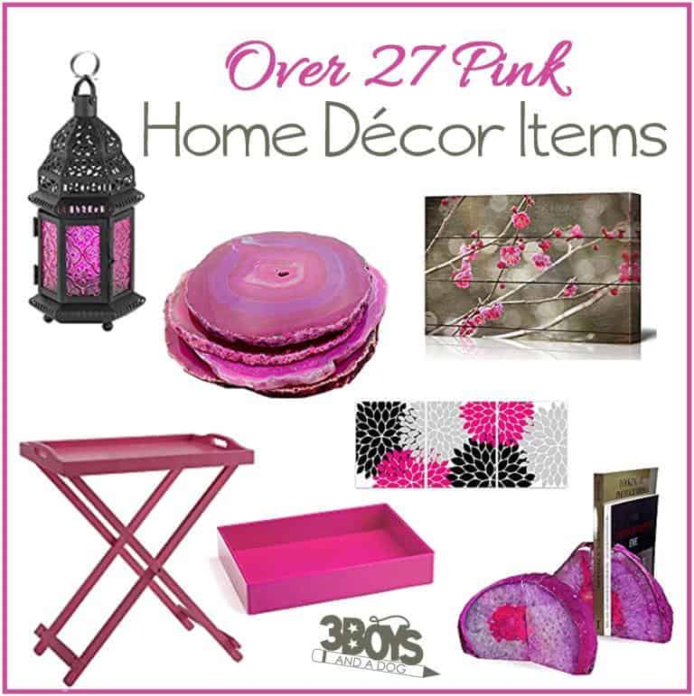 Over 27 Hot Pink or Pink Yarrow home decor items