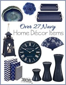 Over 27 Navy Home Decor Items