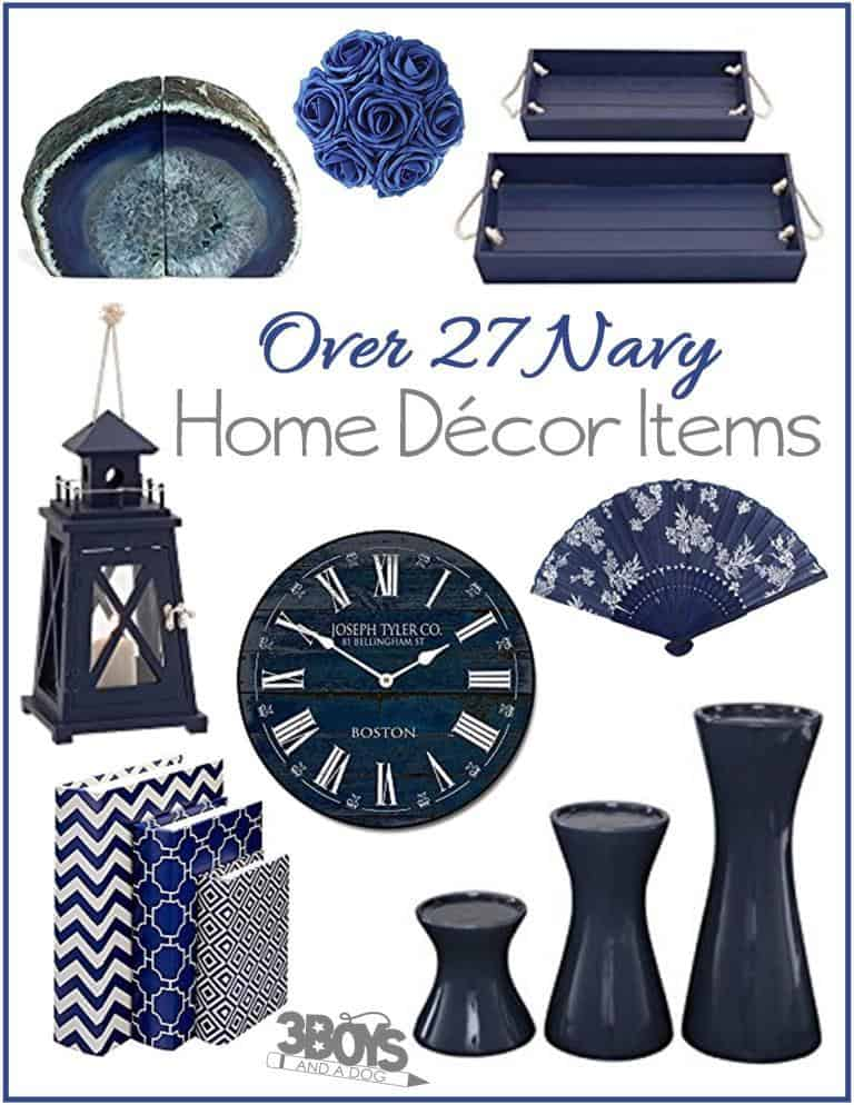 27 fun navy home decor pieces 3 boys and a dog for Latest home decor items