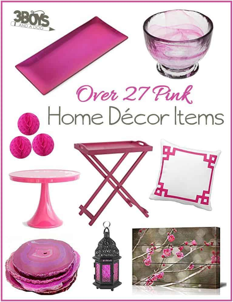 Over 27 Pink Home Decor Accent Pieces – for Spring 2017, Pantone has said this pink is one of the official fashion colors. Get trendy and throw in some gorgeous Pink Yarrow in your home decorating!