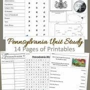Pennsylvania Unit Study 14 pages of printables