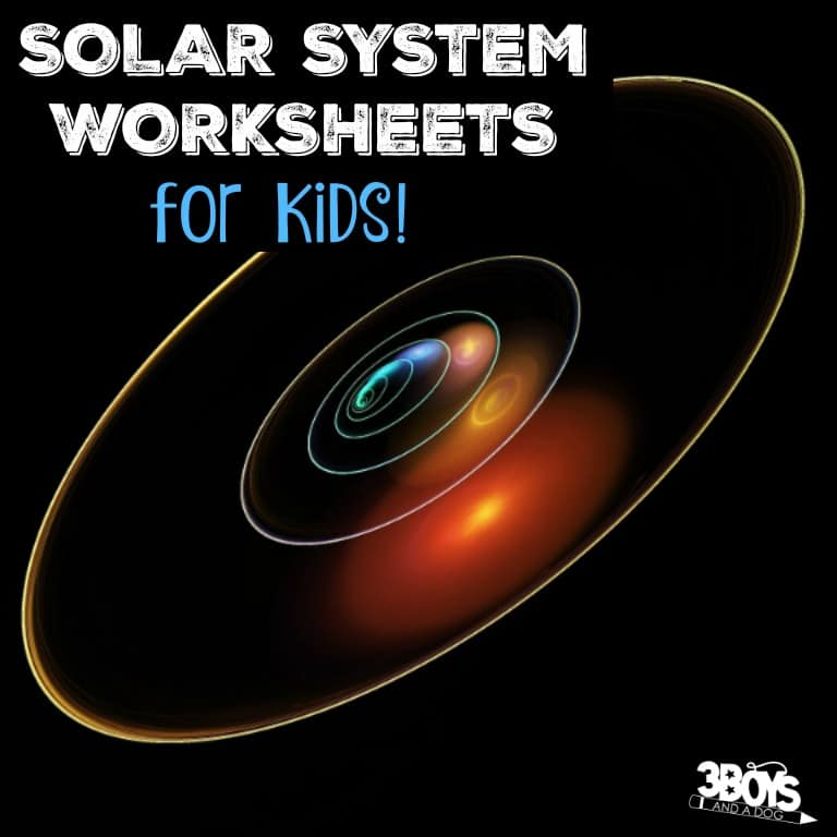 Printable Solar System Worksheets for Kids