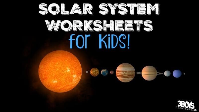 photograph relating to Printable Solar System known as Sunlight Process Worksheets for Young children 3 Boys and a Doggy 3 Boys