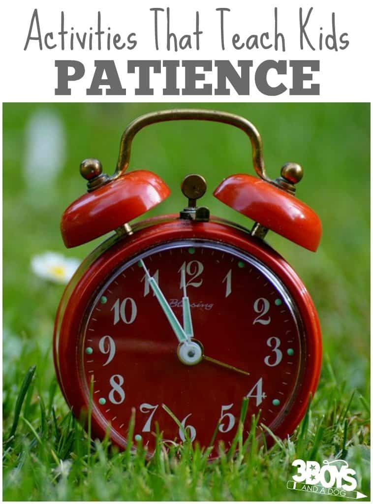 how to teach patience to kids