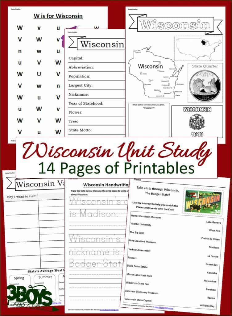 Wisconsin State Unit Study