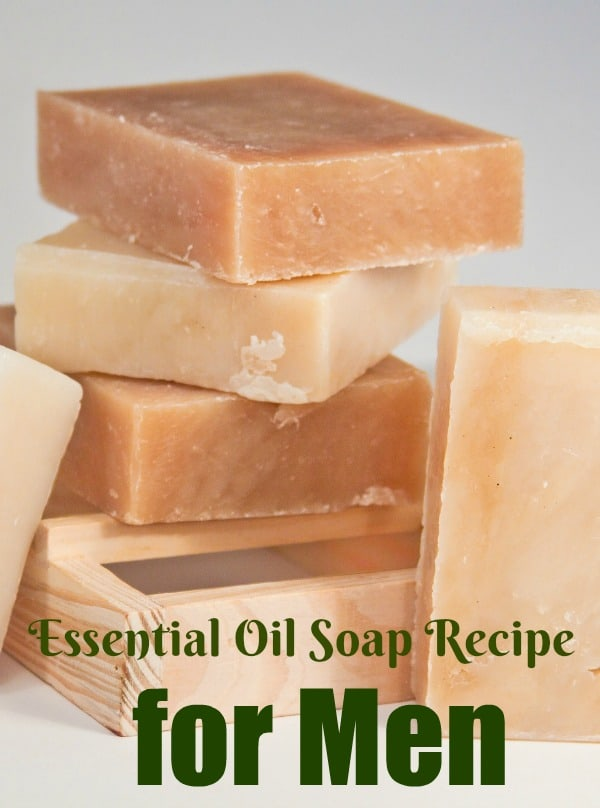 This essential oil soap recipe for men provides a woodsy, spicy scent that men will love. This recipe makes the perfect gift for the men in your life!