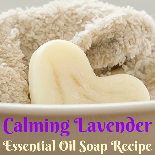 This soothing and calming lavender essential oil soap recipe is the perfect gift for moms, kids, and women who love to unwind with a warm bath at the end of the day.