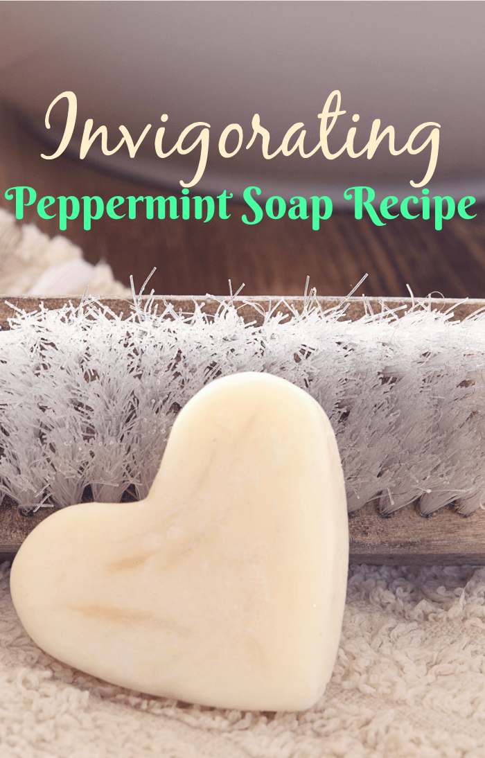 Try this simple, easy-to-do, peppermint soap recipe to make invigorating soap perfect for gifts! A fun way to use essential oils in a non-traditional way!