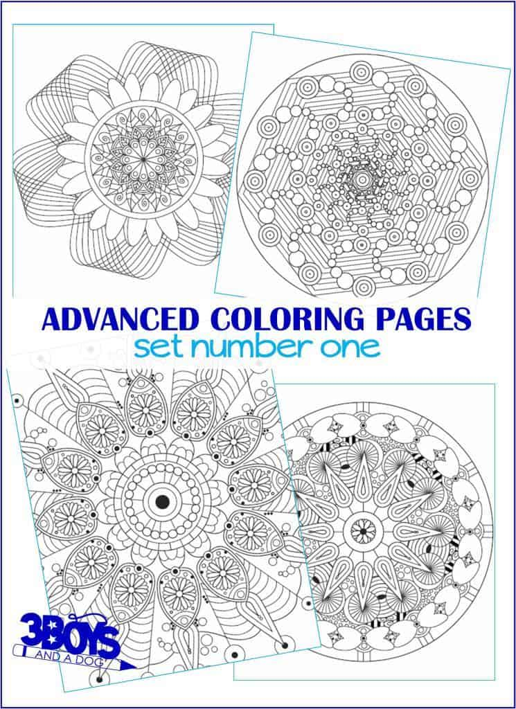 Advanced Coloring Pages for Mom - Mandala color pages