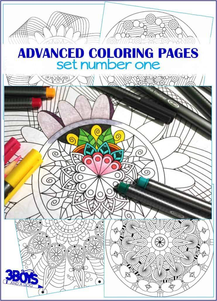 Printable, Advanced, Mandala Inspired, Coloring Pages