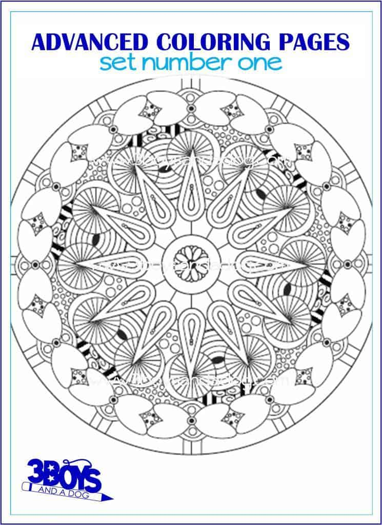 Advanced Dog Coloring Pages : Advanced coloring pages set boys and a dog