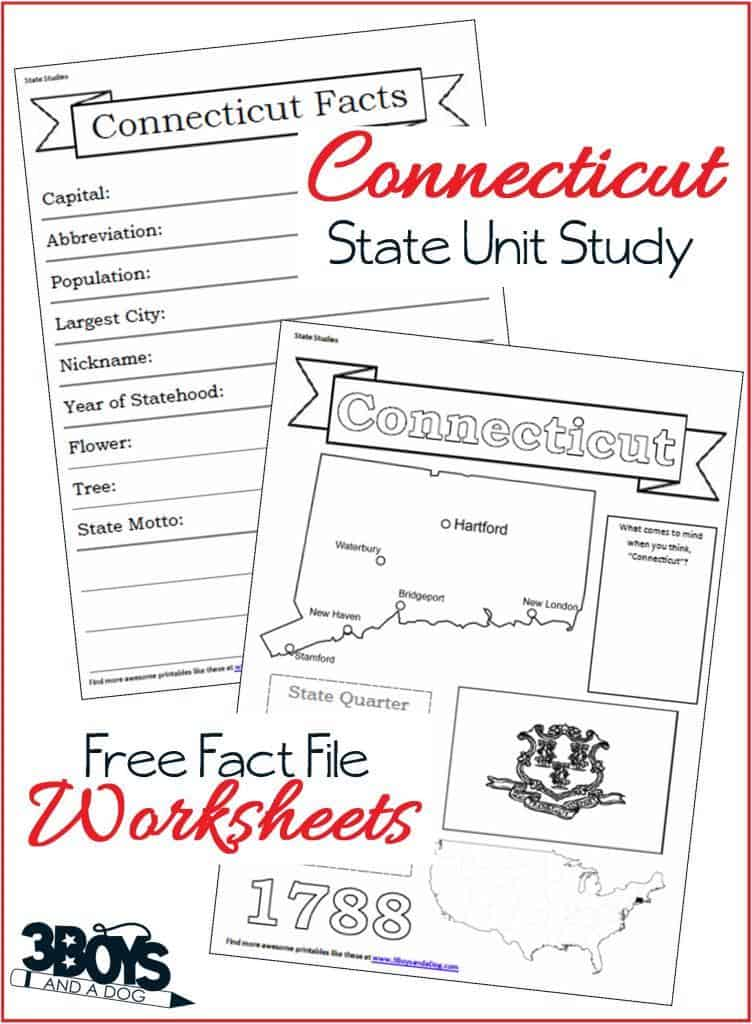 Connecticut State Fact File Worksheets