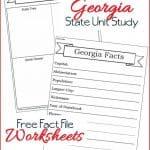 Georgia State Fact File Worksheets