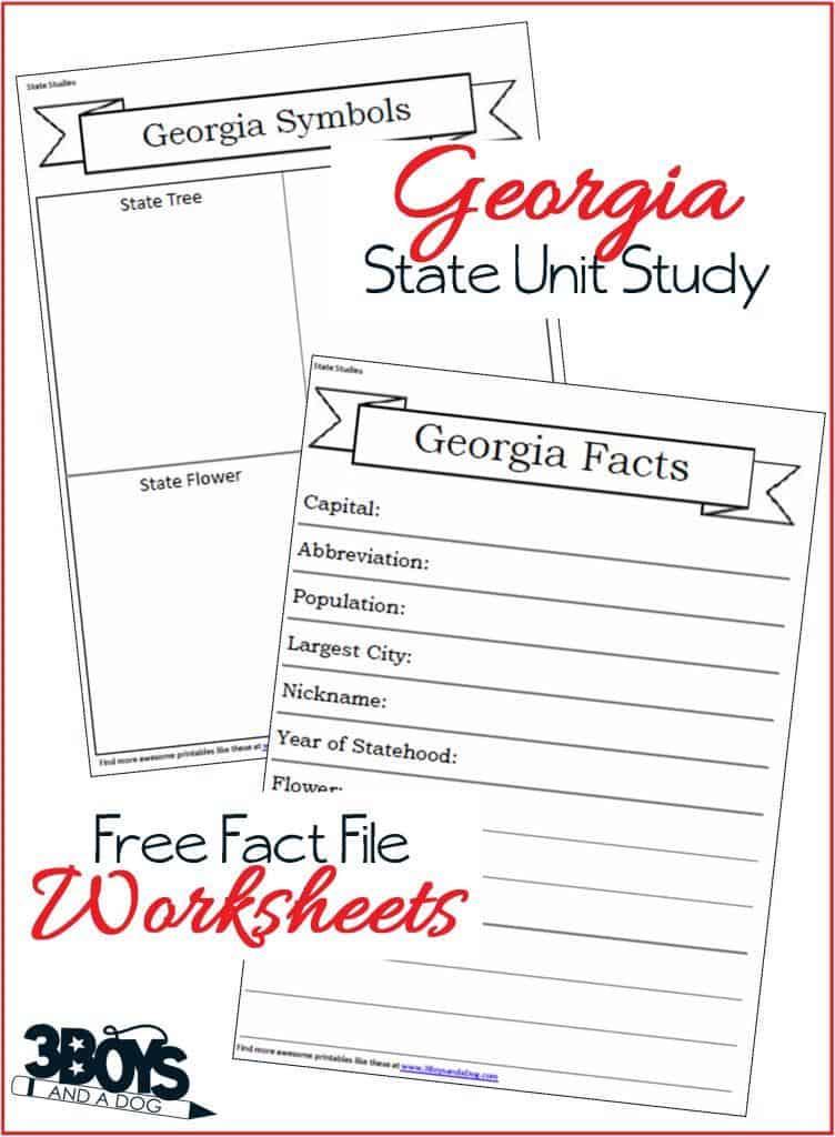 Georgia Free Fact File Worksheets