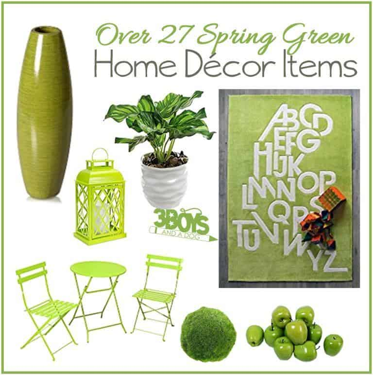 Over 27 Spring Green Home Decor Accent Pieces 3 Boys And