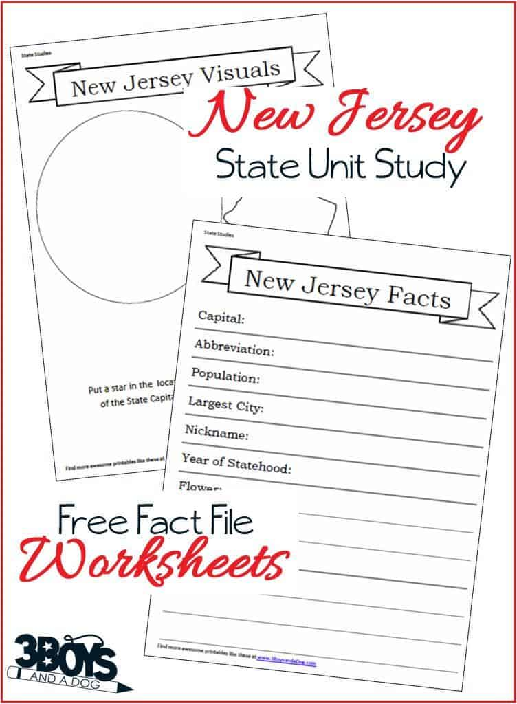 New Jersey Fact File Worksheets