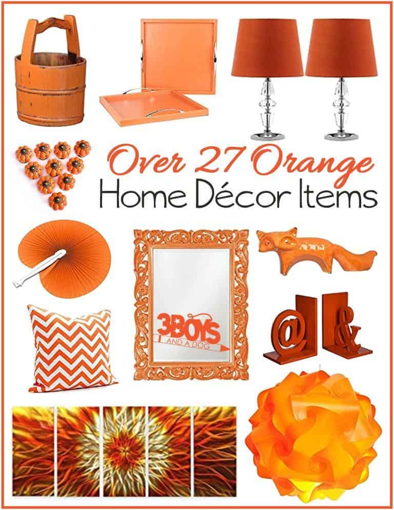 Orange Home Decor Accent Pieces 3 Boys And A Dog