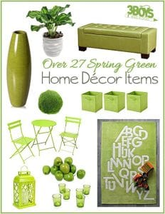 Spring Green Home Accent Pieces