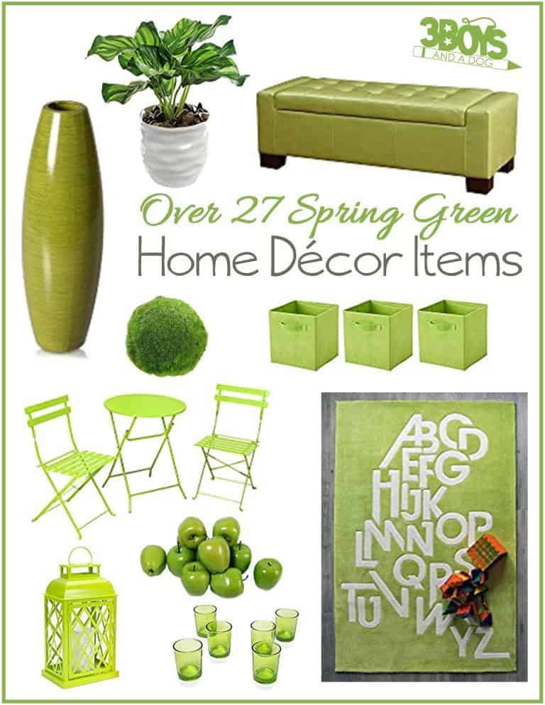 Pantone's Color of the Year for 2017, Greenery, is a beautiful way to bring the outdoors in! Here are 27 accent piece ideas for livening up your home decor.