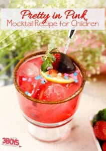 Pretty in Pink Mocktails for Kids