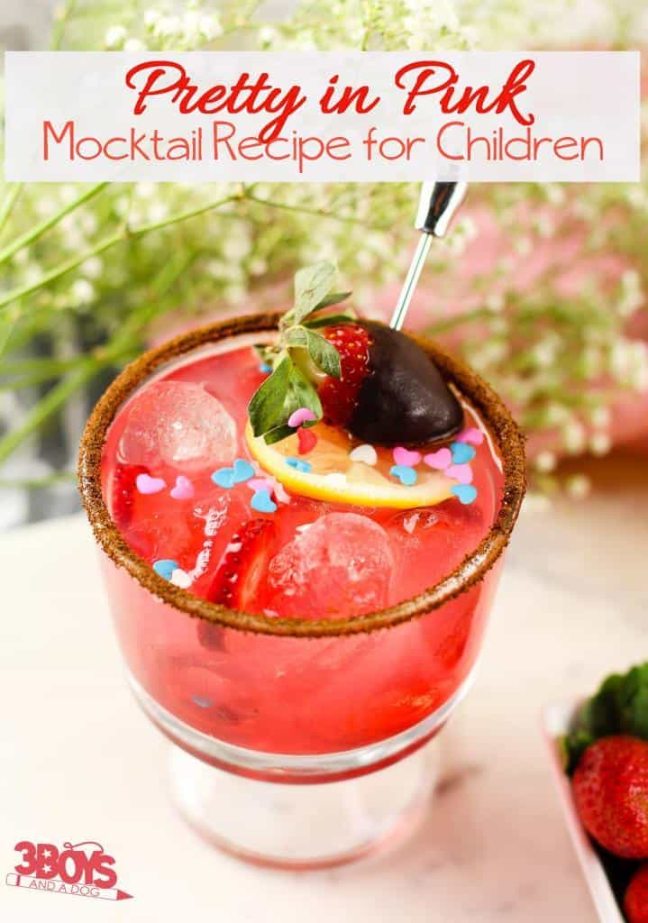 Pretty in Pink Mocktail Recipe for Children