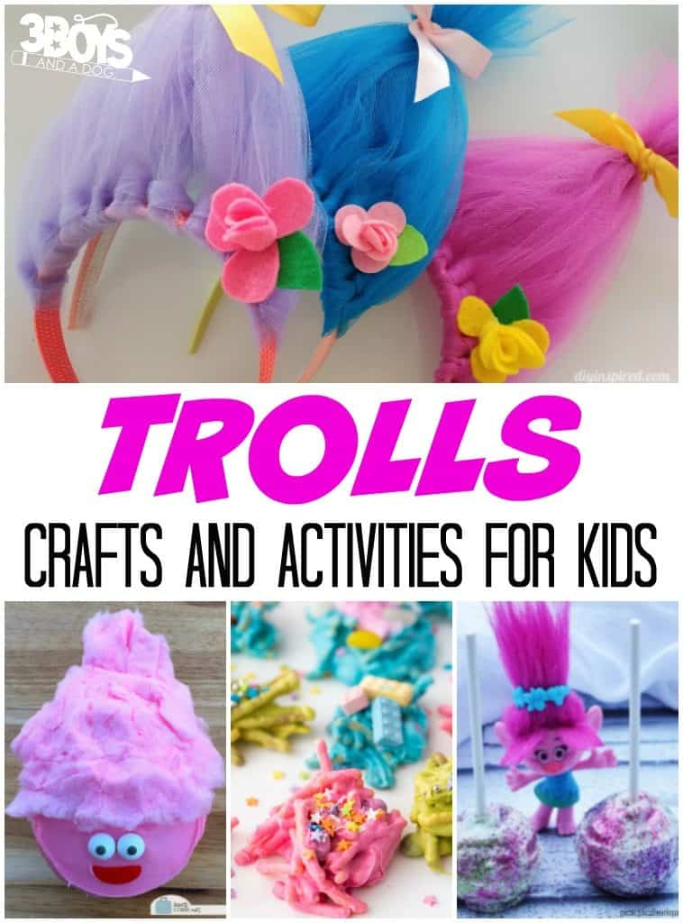 Trolls Crafts And Activities For Kids 3 Boys And A Dog