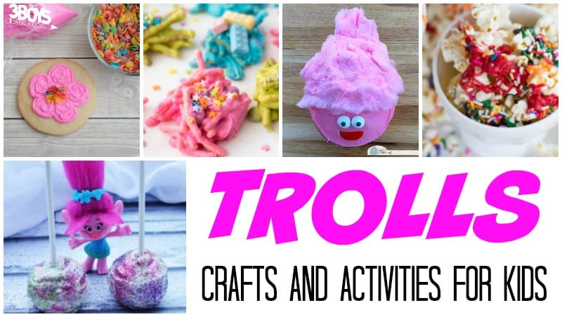 Trolls Crafts and Activities