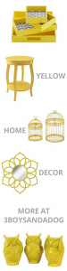 Yellow Home Decor Accent Pieces for Yellow Aesthetic