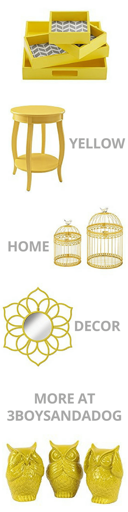 Add a splash of color with this list of over 27 Yellow Home Decor Accents for Home Decorating.  Soft Buttery Yellow or a Darker Mustard Yellow makes a great accent color in your home because it adds a splash of pop and can go with pretty much any color you want: black, blue, grey, olive, more.