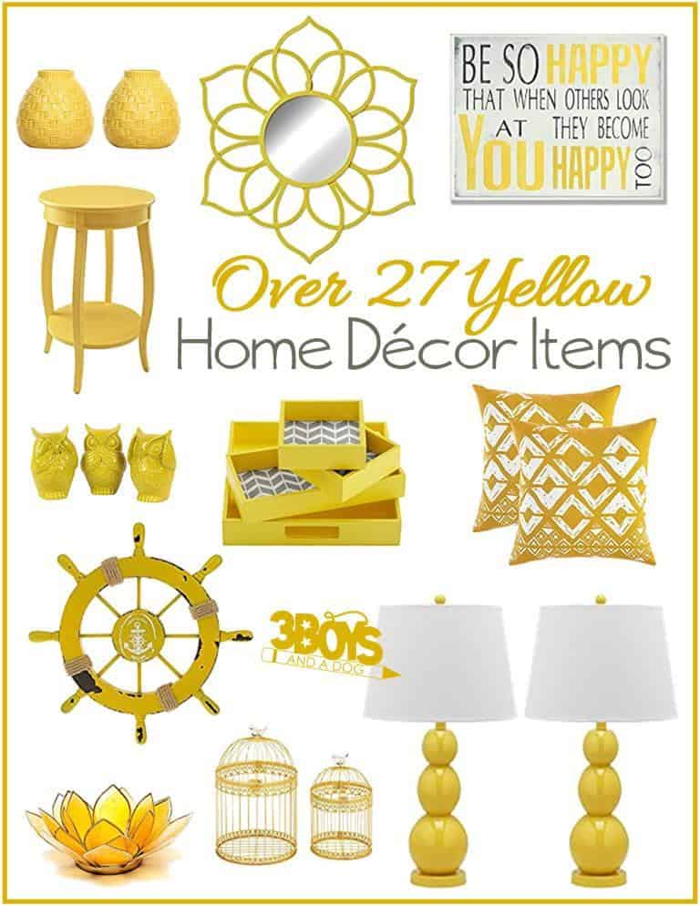 Yellow Home Decor Accent Pieces