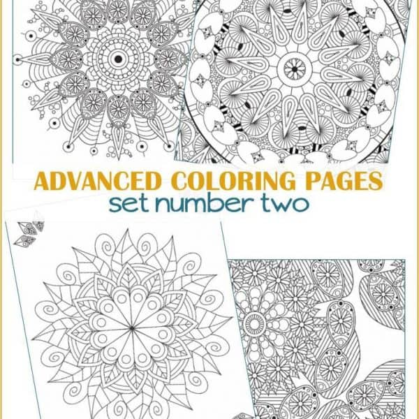 Advanced Coloring Pages set 2 - Mandalas for Adults