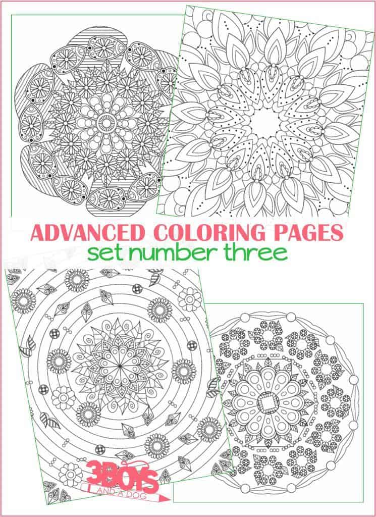 Advanced Coloring Pages for Moms and Teens - set 3