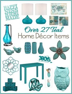 Over 27 Aqua or Teal Home Decor Accent Pieces