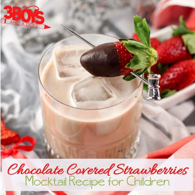 Non Alcoholic Chocolate Covered Strawberry Beverage for Kids