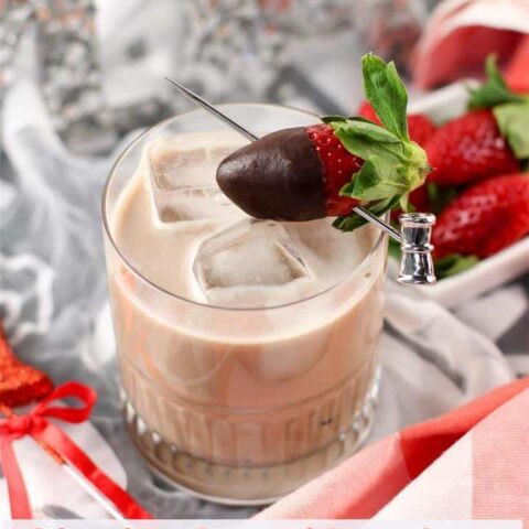 Chocolate Covered Strawberries Mocktail Drink for Kids