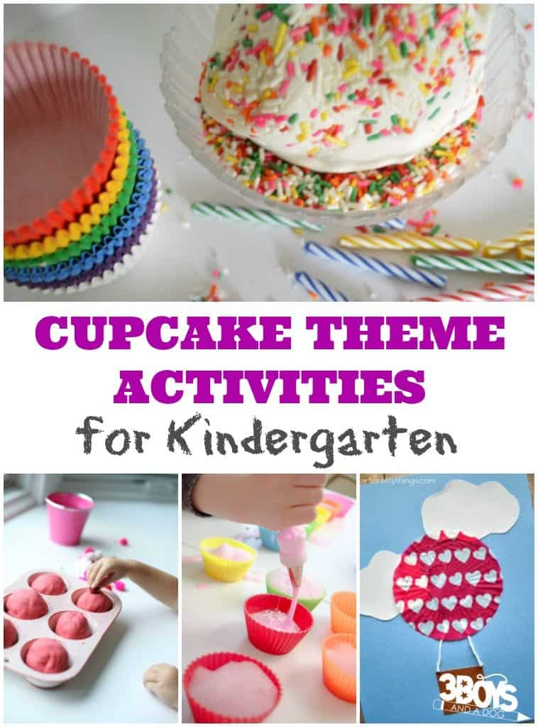 Cupcake Theme Activities for Kindergarten