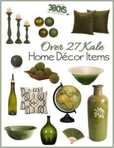 Kale Home Decor Accent Pieces