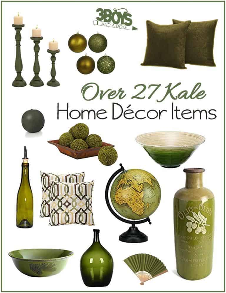Over 27 Olive Drab Home Decor Accent Items