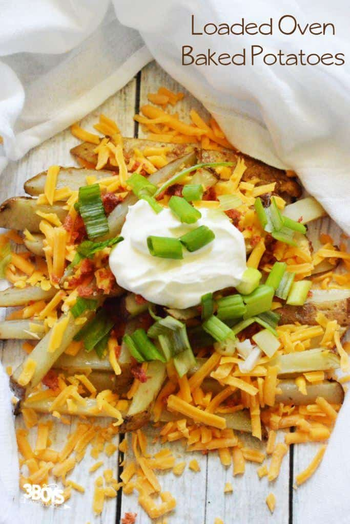 Loaded Steak Potato Fries - Oven Baked Recipe