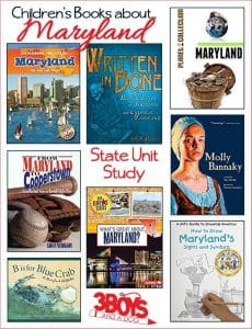 These Maryland Books for Kids are sure to please and fascinate your children as they learn all about the state of Maryland.