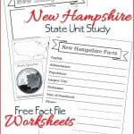 New Hampshire State Fact File Worksheets