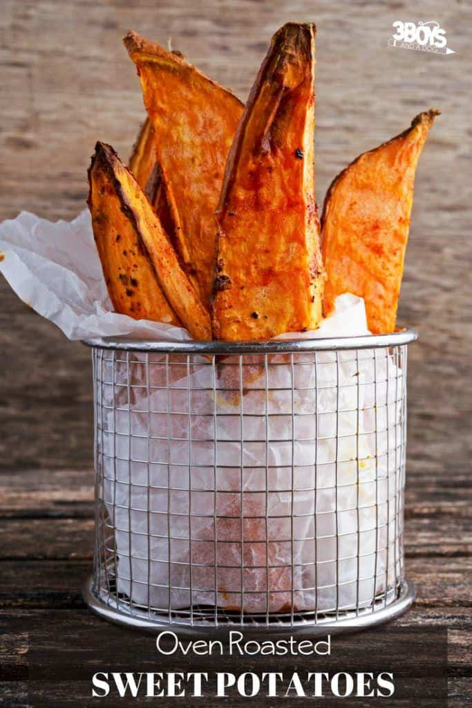 Oven Roasted Sweet Potato Steak Fries Recipe