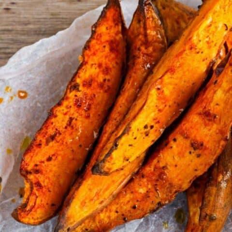 Oven Sweet Potato Steak Fries Recipe