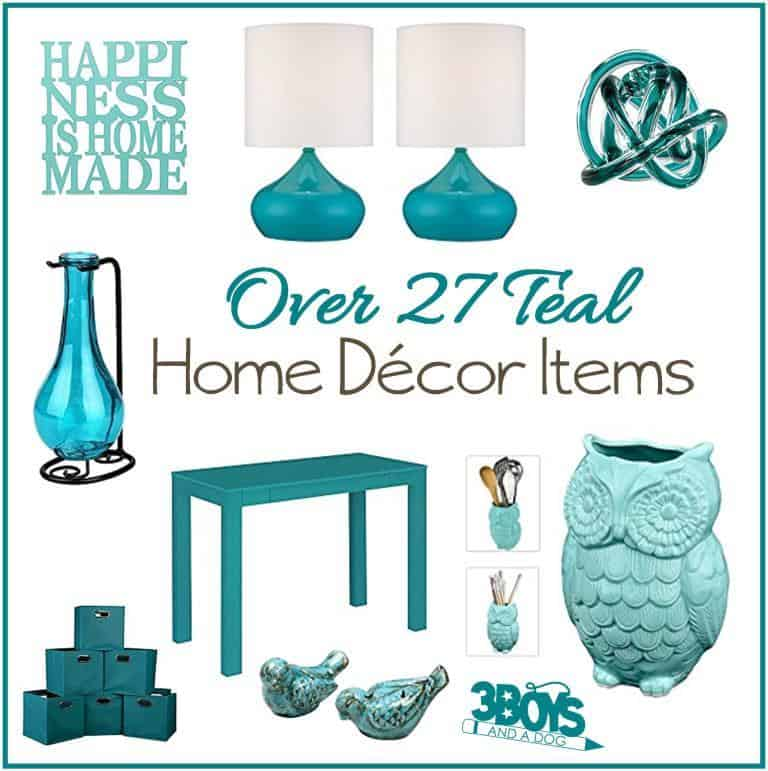 Aqua or Teal Home Decor Accent Pieces