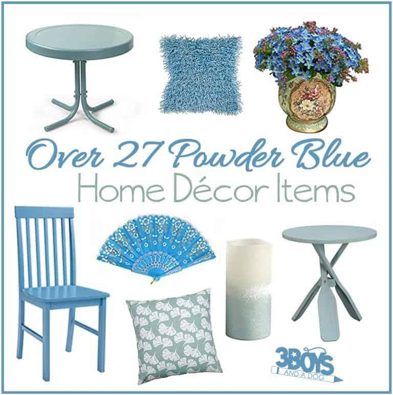 powder blue home decor accent pieces – 3 boys and a dog